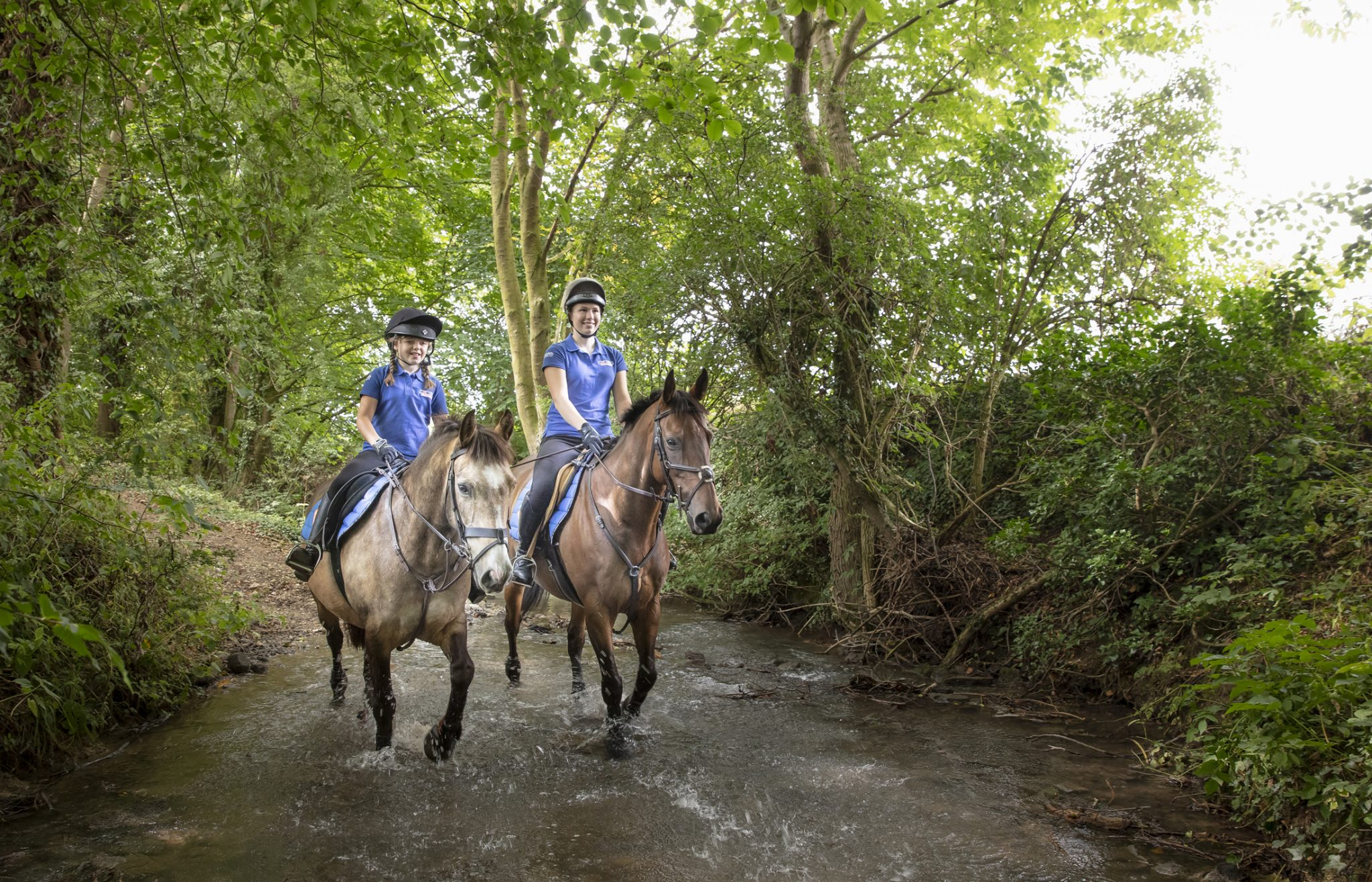 Riding through trees Double Bollin and Duster fed on Horslyx Balancers